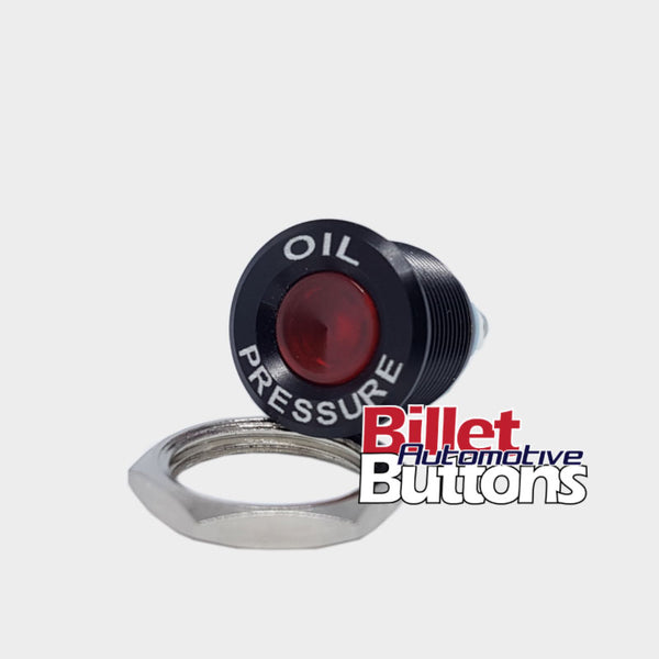 16mm 'OIL PRESSURE' LED Pilot / Warning Light Small Compact 12V