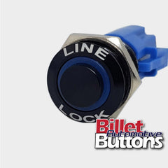 16mm 'LINE LOCK' Push Button Switch Raised Top LED Small