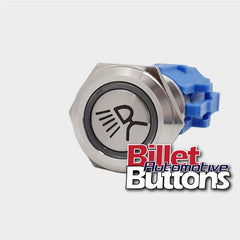 19mm 'AWNING LIGHT SYMBOL' Billet Push Button Switch Rear Tray Lights