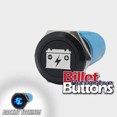 19mm 'BATTERY ISOLATOR SYMBOL' Billet Push Button Kill Switch