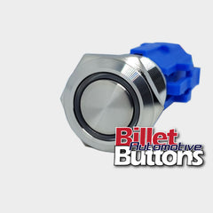 19mm 'BLANK' Billet Push Button Switch Harness plug Included