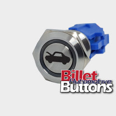 19mm 'BONNET / HOOD SYMBOL' Billet Push Button Switch