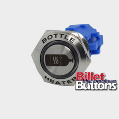 19mm FEATURED 'BOTTLE HEATER SYMBOL' Billet Push Button Switch N2O NOS Nitrous