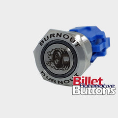 19mm FEATURED 'BURNOUT TYRE' Billet Push Button Switch Line Lock etc