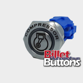 19mm FEATURED 'COMPRESSOR SYMBOL' Billet Push Button Switch Air Comp