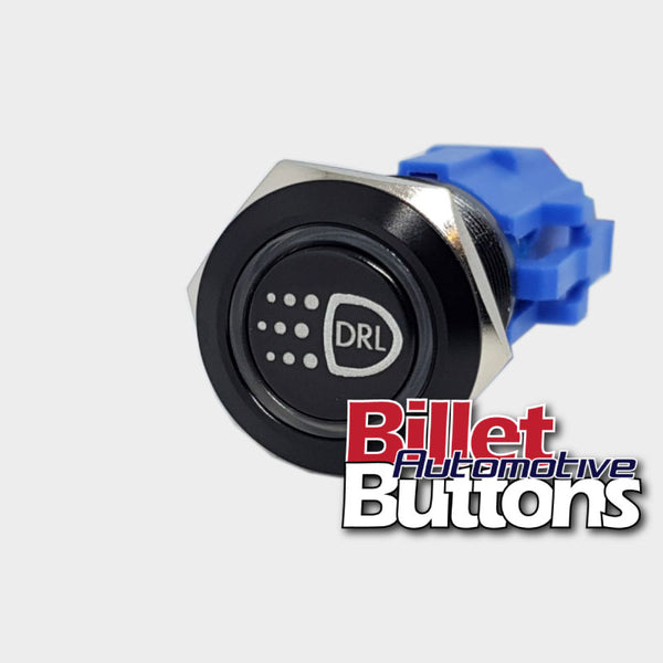 19mm 'DRL SYMBOL' Billet Push Button Switch daytime running lights