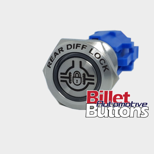 19mm FEATURED 'REAR DIFF LOCK SYMBOL' Billet Push Button Switch