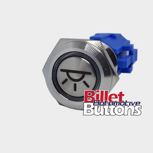 19mm 'DOME LIGHT SYMBOL' Billet Push Button Switch Interior Lights etc