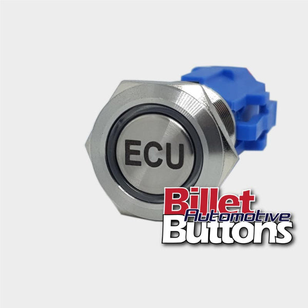 19mm 'ECU' Billet Push Button Switch Computer etc