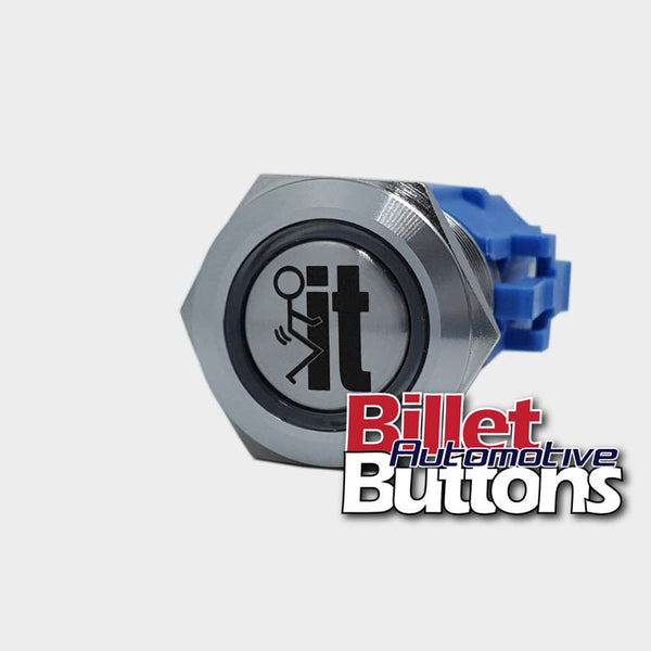 19mm 'FUCK IT SYMBOL' Billet Push Button Switch
