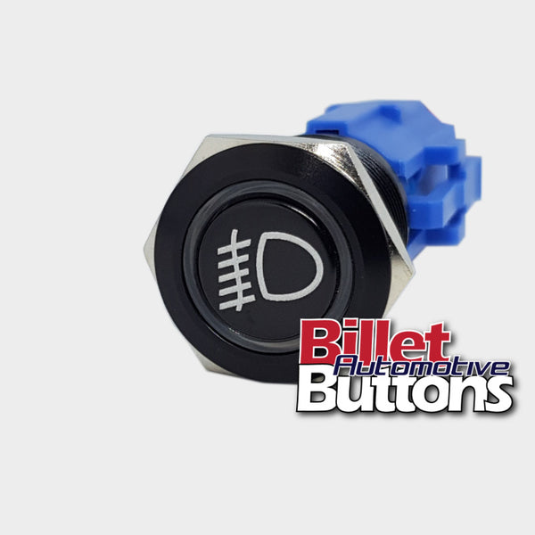 19mm 'FOG LIGHTS SYMBOL' Billet Push Button Switch Driving Light