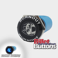 19mm FEATURED 'BURNOUT TYRE' Billet Push Button Switch Line Lock Tire etc