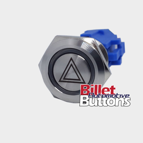 19mm 'HAZARD LIGHTS SYMBOL' Billet Push Button Switch