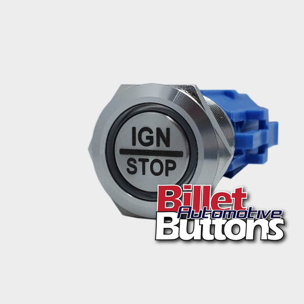 19mm 'IGN/STOP' Billet Push Button Switch Ignition