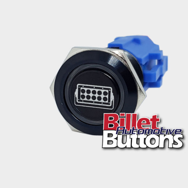 19mm 'LIGHT BAR SYMBOL' Billet Push Button Switch Bars
