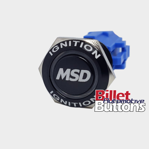 19mm FEATURED 'MSD' Billet Push Button Switch Ignition