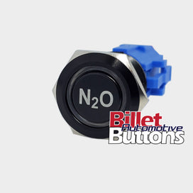 19mm 'N2O' Billet Push Button Switch Nitrous NOS Arm