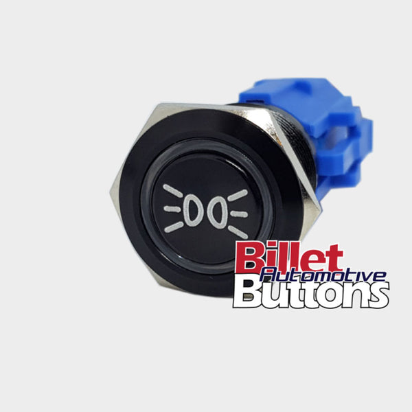 19mm 'PARK LIGHTS SYMBOL' Billet Push Button Switch Parking Parkers