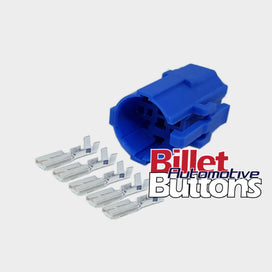 Replacement Billet Buttons Plug & Play Harness Plugs 19mm 22mm 28mm Pigtails Connectors