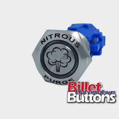 19mm FEATURED 'NITROUS PURGE SYMBOL' Billet Push Button Switch N2O NOS
