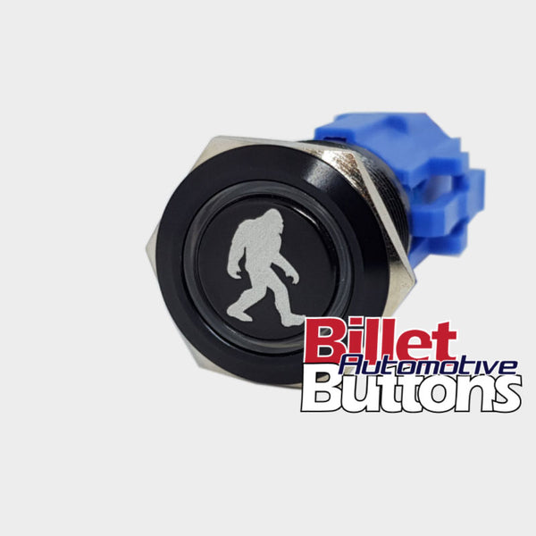 19mm 'SASQUATCH SYMBOL' Billet Push Button Switch Wookiee