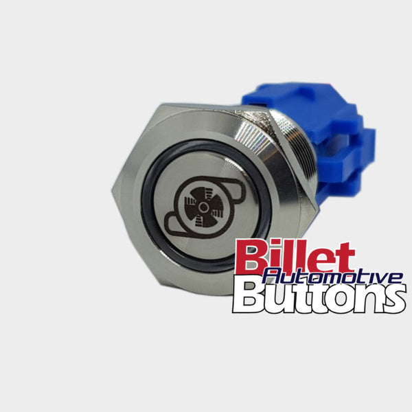 19mm 'WATER PUMP SYMBOL' Billet Push Button Switch