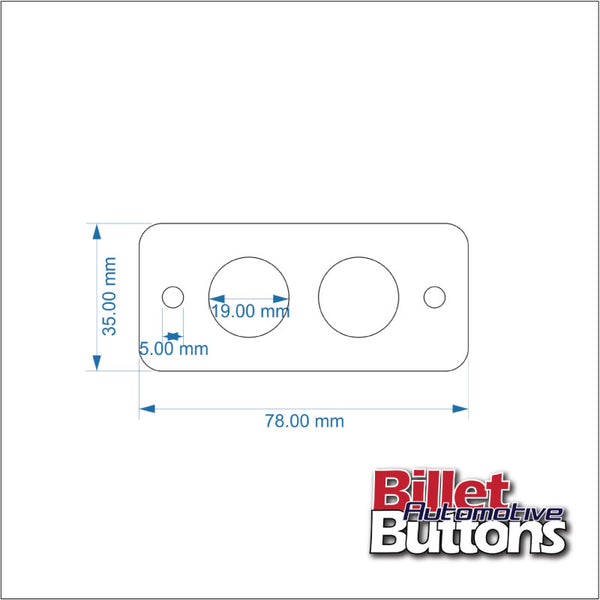 Billet Button 2 hole laser cut switch panel