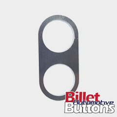 Billet Button 2 hole laser cut aluminium panel for power windows etc