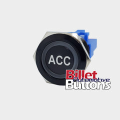 22mm 'ACC' Billet Push Button Switch Accessories