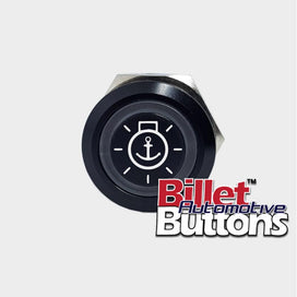 22mm 'ANCHOR LIGHT SYMBOL' Billet Push Button Switch Marine