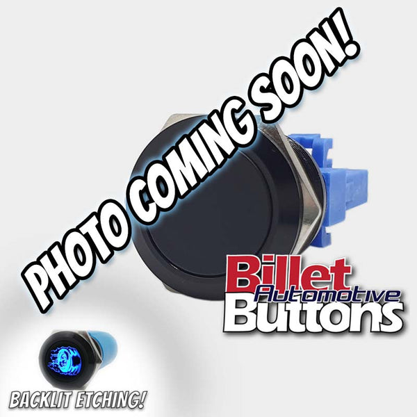 22mm 'TRIM OUTBOARD SYMBOL' Billet Push Button Switch Marine Tabs Up Down