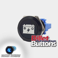 22mm 'BATTERY ISOLATOR SYMBOL' Billet Push Button Kill Switch