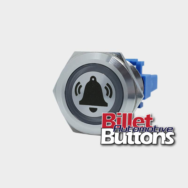 22mm 'ALARM BELL SYMBOL' Billet Push Button Switch
