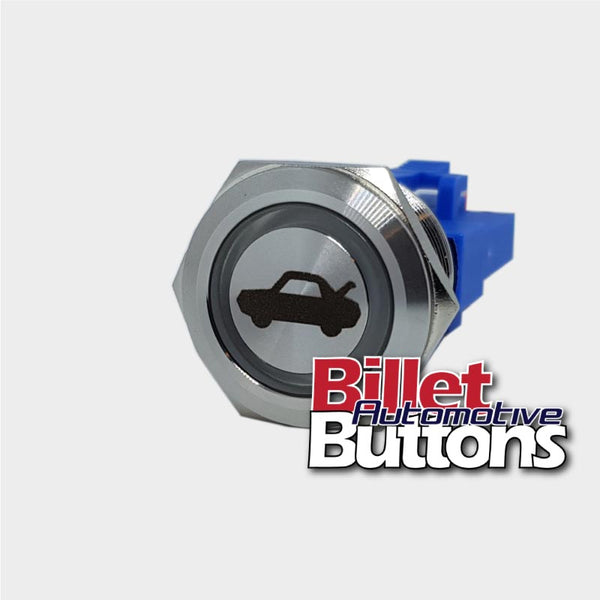 22mm 'BOOT / TRUNK SYMBOL' Billet Push Button Switch