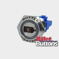 22mm FEATURED 'BOTTLE HEATER SYMBOL' Billet Push Button Switch N2O NOS Nitrous