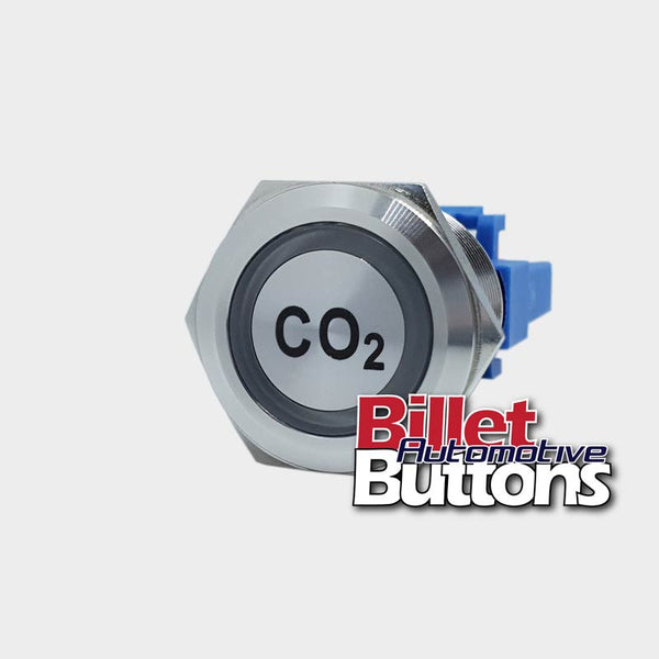 22mm 'CO2' Billet Push Button Switch Carbon Dioxide