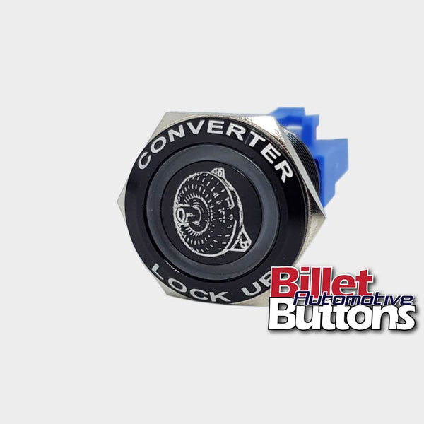 22mm FEATURED 'TORQUE CONVERTER SYMBOL' Billet Push Button Switch TCC Lock up