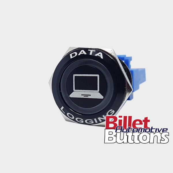 22mm FEATURED 'DATA LOGGING' Billet Push Button Switch Logger