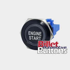 22mm 'ENGINE START' Billet Push Button Switch