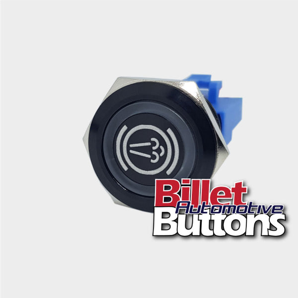 22mm 'EXHAUST BRAKE SYMBOL' Billet Push Button Switch