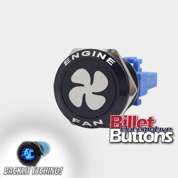 22mm FEATURED 'FAN SYMBOL' Billet Push Button Switch Engine Fans Fan