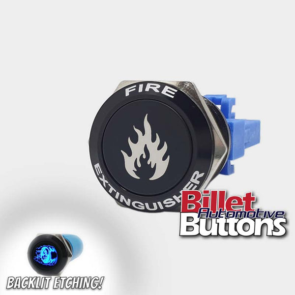 22mm FEATURED 'FIRE EXTINGUISHER' Billet Push Button Switch
