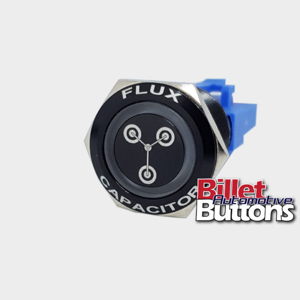 22mm FEATURED 'FLUX CAPACITOR' Billet Push Button Switch