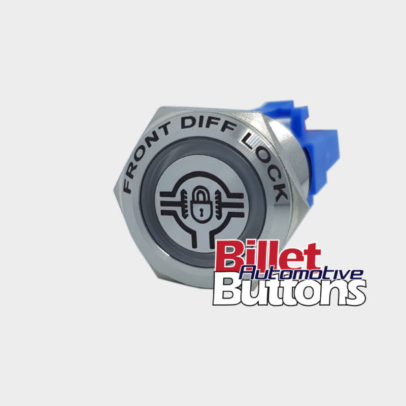 22mm FEATURED 'FRONT DIFF LOCK SYMBOL' Billet Push Button Switch