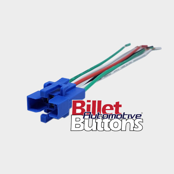 22mm FEATURED 'LAUNCH CONTROL' Billet Push Button Switch Flag