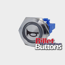 22mm 'HORN SYMBOL' Billet Push Button Switch