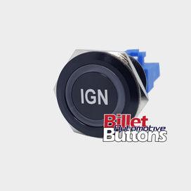 22mm 'IGN' Billet Push Button Switch Ignition