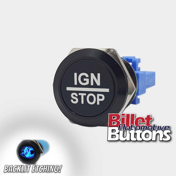 22mm 'IGN/STOP' Billet Push Button Switch Ignition