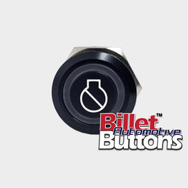 22mm 'ENGINE IGNITION SYMBOL' Billet Push Button Switch Marine