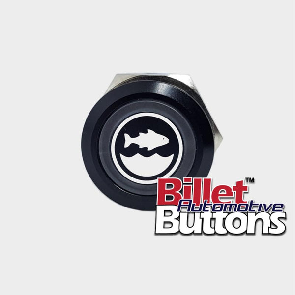 22mm 'BAIT TANK SYMBOL' Billet Push Button Switch Marine Live Well Fish Box